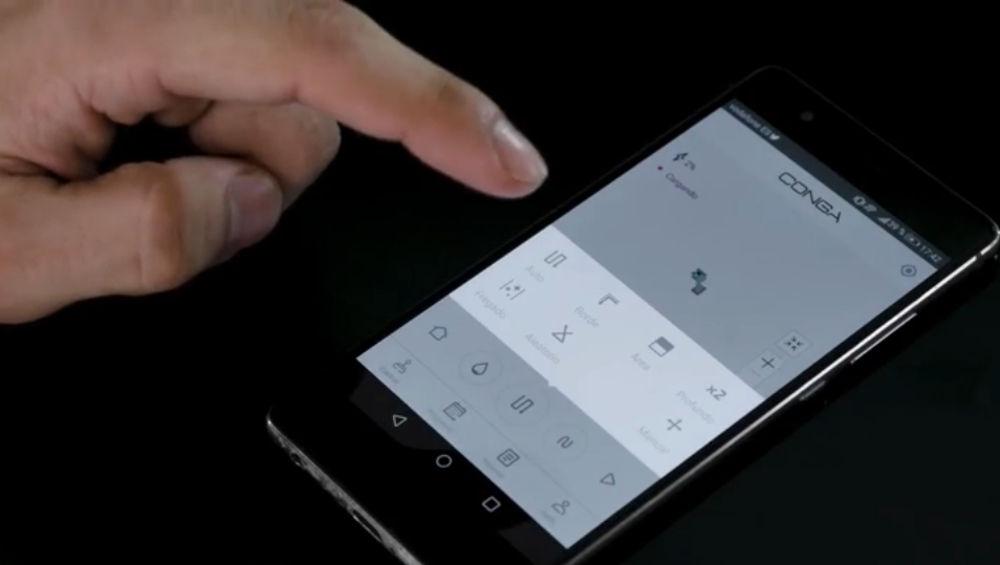 Control conga 1390 mediante app smartphone